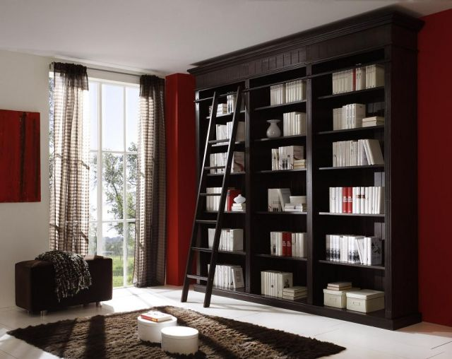 bibliothek regal b cherregal schrank kolonialstil pinie. Black Bedroom Furniture Sets. Home Design Ideas