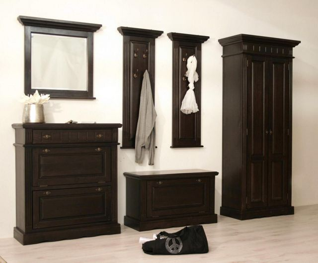 saigon garderobe 5 tlg schuhschrank schrank kolonialstil. Black Bedroom Furniture Sets. Home Design Ideas