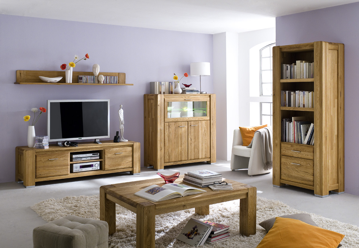 tv anrichte tv schrank lowboard fernsehschrank wildeiche massiv campus ebay. Black Bedroom Furniture Sets. Home Design Ideas