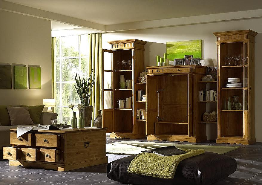 tv wohnwand pinie massiv ge lt landhausstil baltic 01010280 ebay. Black Bedroom Furniture Sets. Home Design Ideas