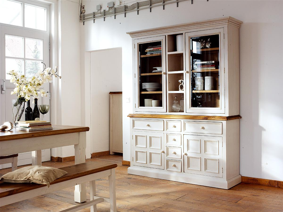 bodde buffet anrichte vitrine landhausstil kiefer ebay. Black Bedroom Furniture Sets. Home Design Ideas