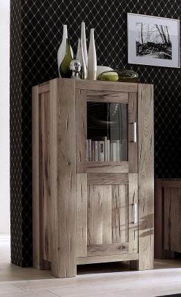 vitrine eiche massiv wei gek lkt braxton fausto. Black Bedroom Furniture Sets. Home Design Ideas