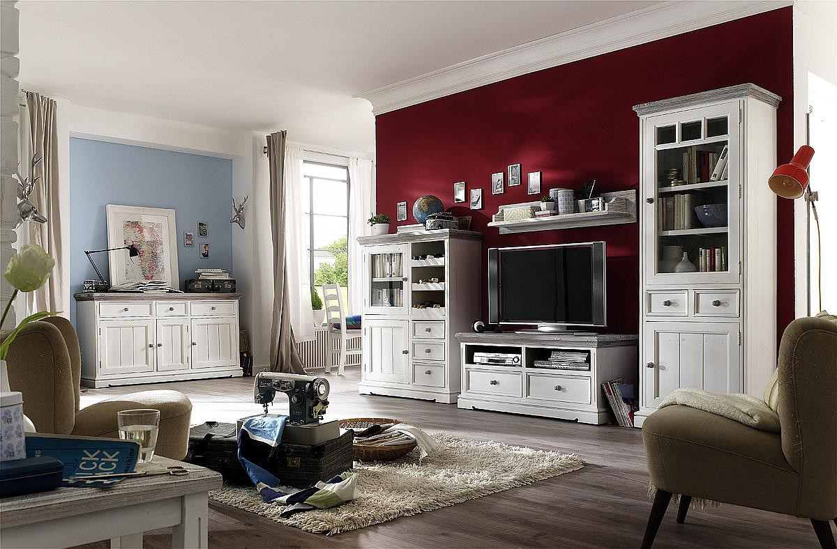 tv wohnwand kiefer massiv landhausstil opus. Black Bedroom Furniture Sets. Home Design Ideas