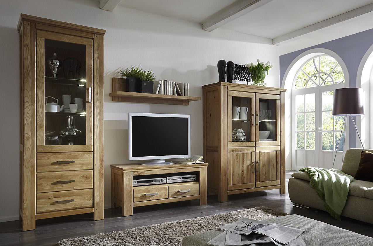 tv wohnwand wildeiche massiv siena neu. Black Bedroom Furniture Sets. Home Design Ideas