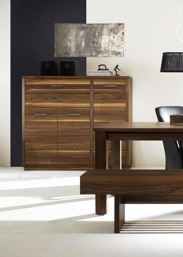 highboard nussbaum massiv cubalibre. Black Bedroom Furniture Sets. Home Design Ideas