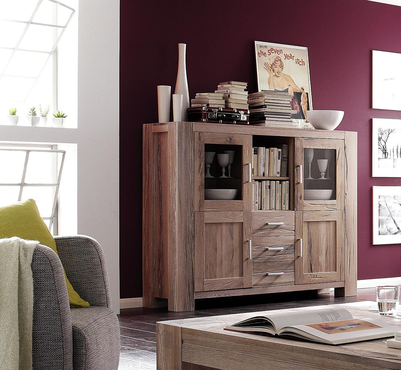 highboard eiche massiv g nstig wei gek lkt braxton. Black Bedroom Furniture Sets. Home Design Ideas