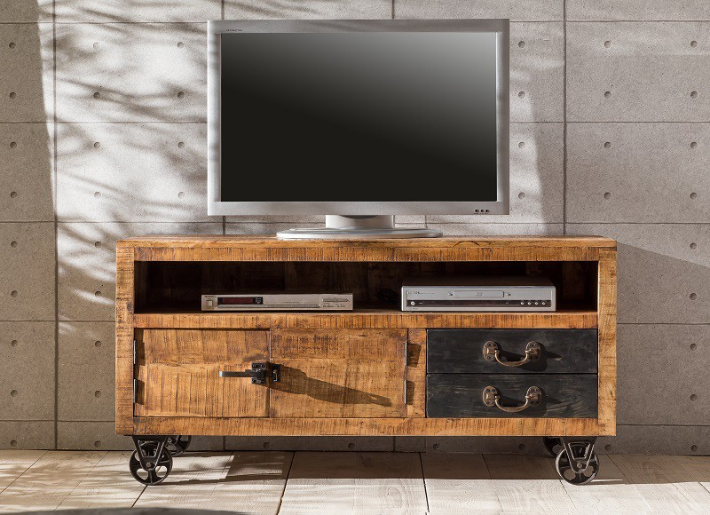 tv board recycelt altholz massiv shabby chic ceylon. Black Bedroom Furniture Sets. Home Design Ideas