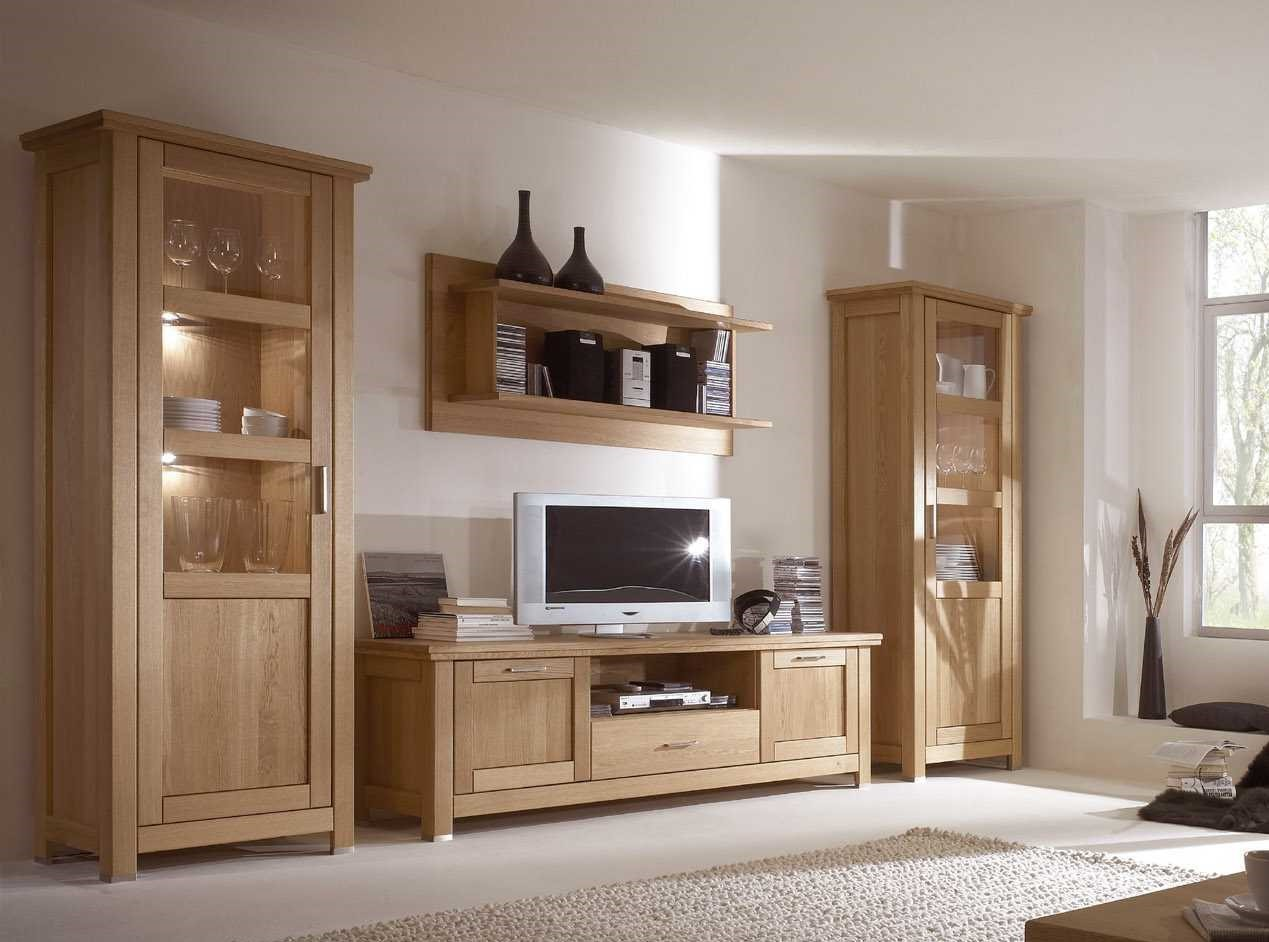 tv wohnwand eiche massiv ge lt porto neu eingetroffen. Black Bedroom Furniture Sets. Home Design Ideas