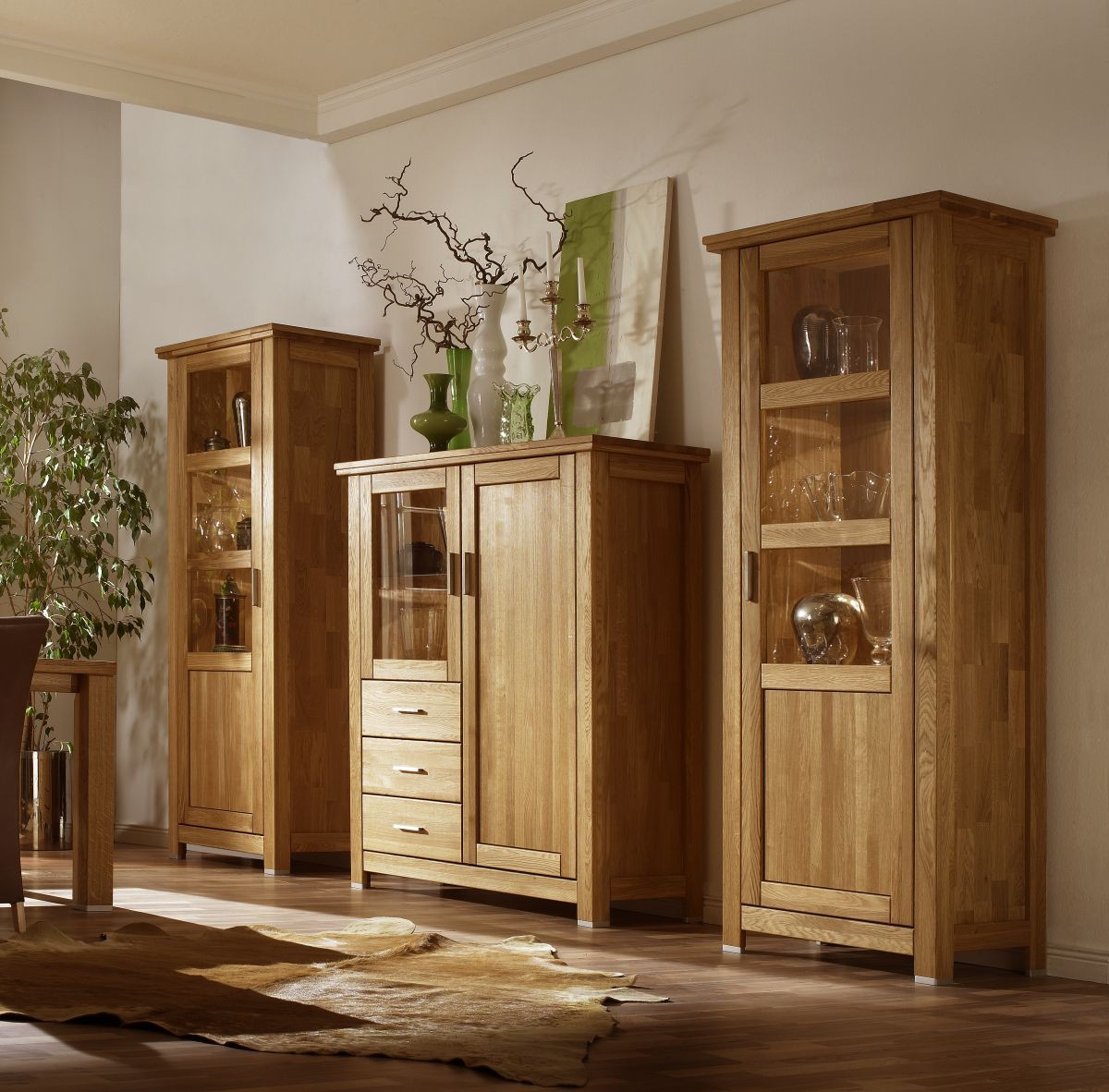 anbauwand eiche massiv ge lt porto neu eingetroffen. Black Bedroom Furniture Sets. Home Design Ideas