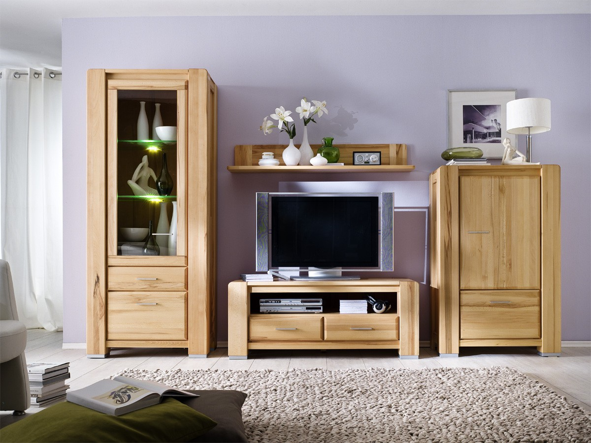 wohnwand kernbuche massiv campus neues design. Black Bedroom Furniture Sets. Home Design Ideas