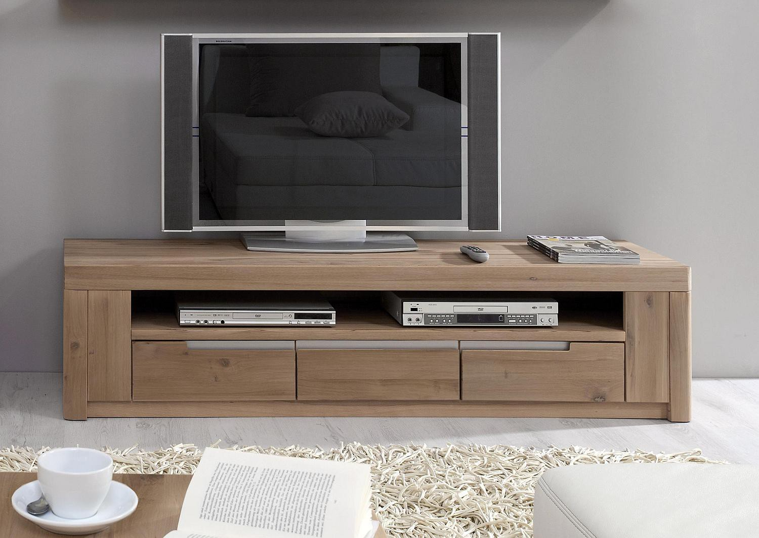 tv anrichte wildeiche massiv solido made in germany. Black Bedroom Furniture Sets. Home Design Ideas
