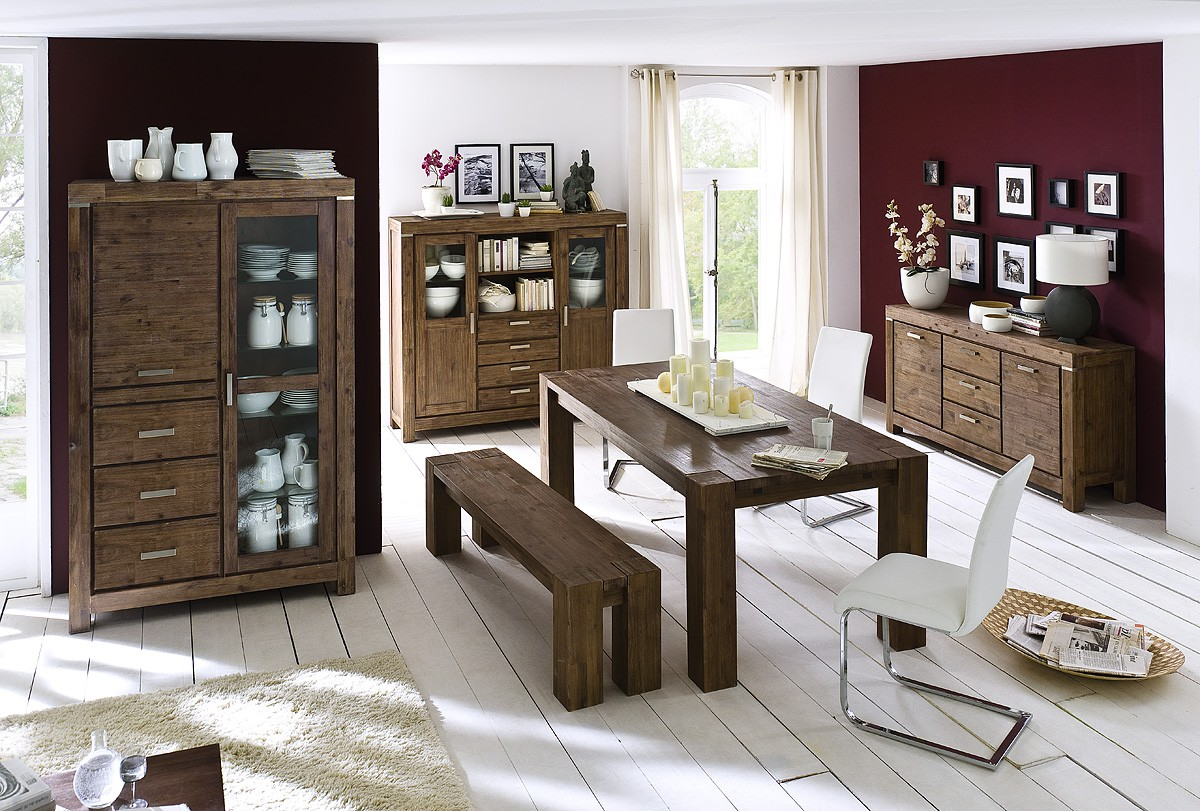 sideboard akazie massiv braun victoria 9840 11111421. Black Bedroom Furniture Sets. Home Design Ideas