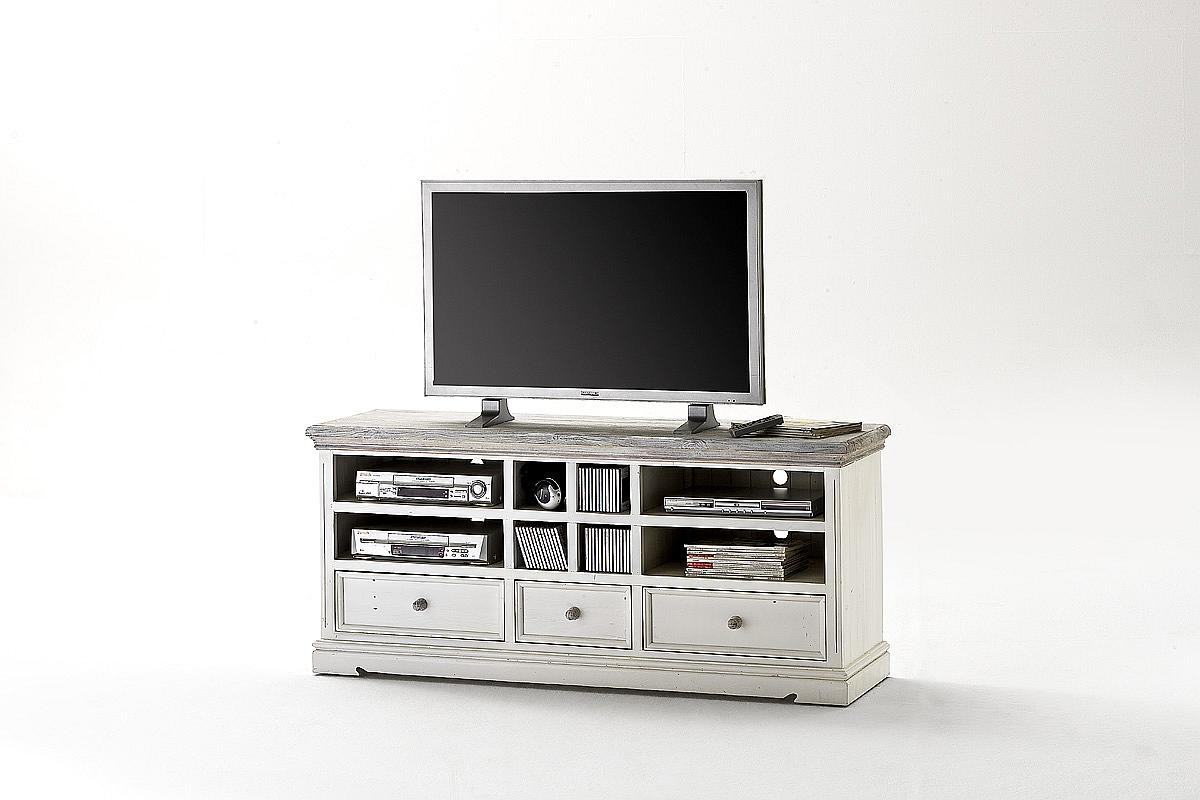 tv anrichte kiefer massiv landhausstil opus weiss. Black Bedroom Furniture Sets. Home Design Ideas