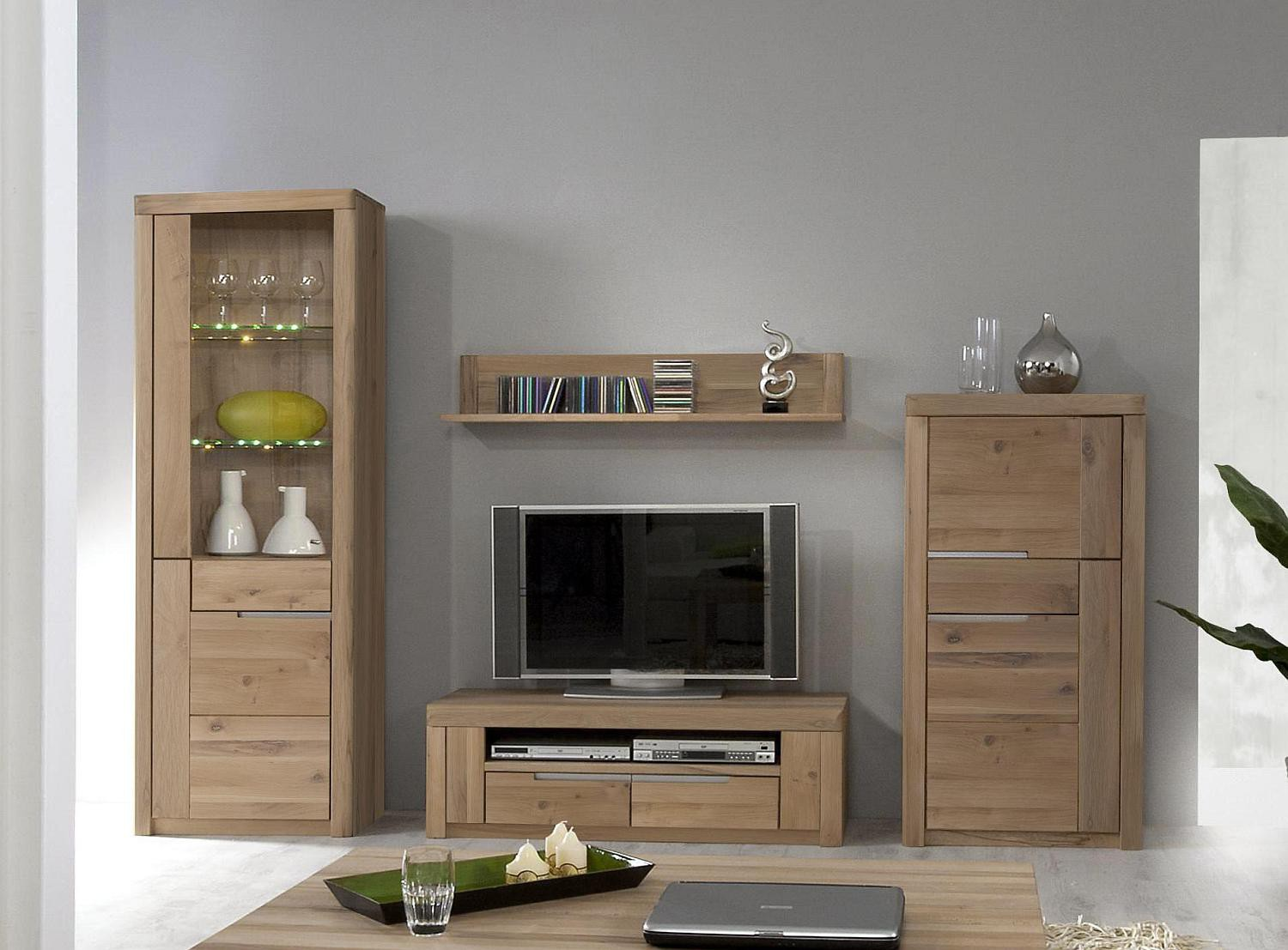 wohnwand wildeiche massiv solido stilvoll wohnen. Black Bedroom Furniture Sets. Home Design Ideas