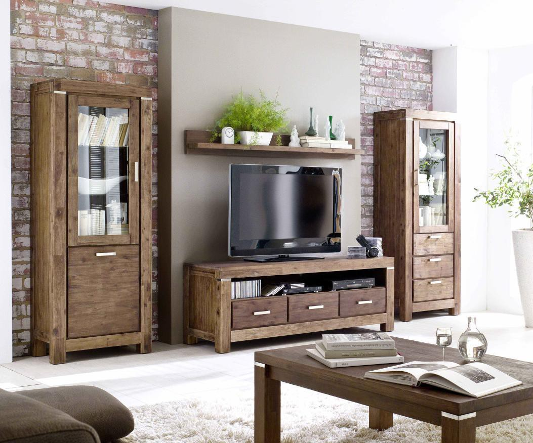 vitrine akazie massiv braun victoria 9840 11111407. Black Bedroom Furniture Sets. Home Design Ideas