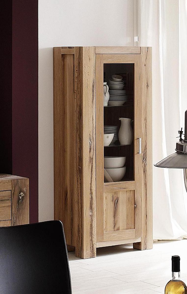 vitrine g nstig eiche massiv ge lt natur braxton. Black Bedroom Furniture Sets. Home Design Ideas