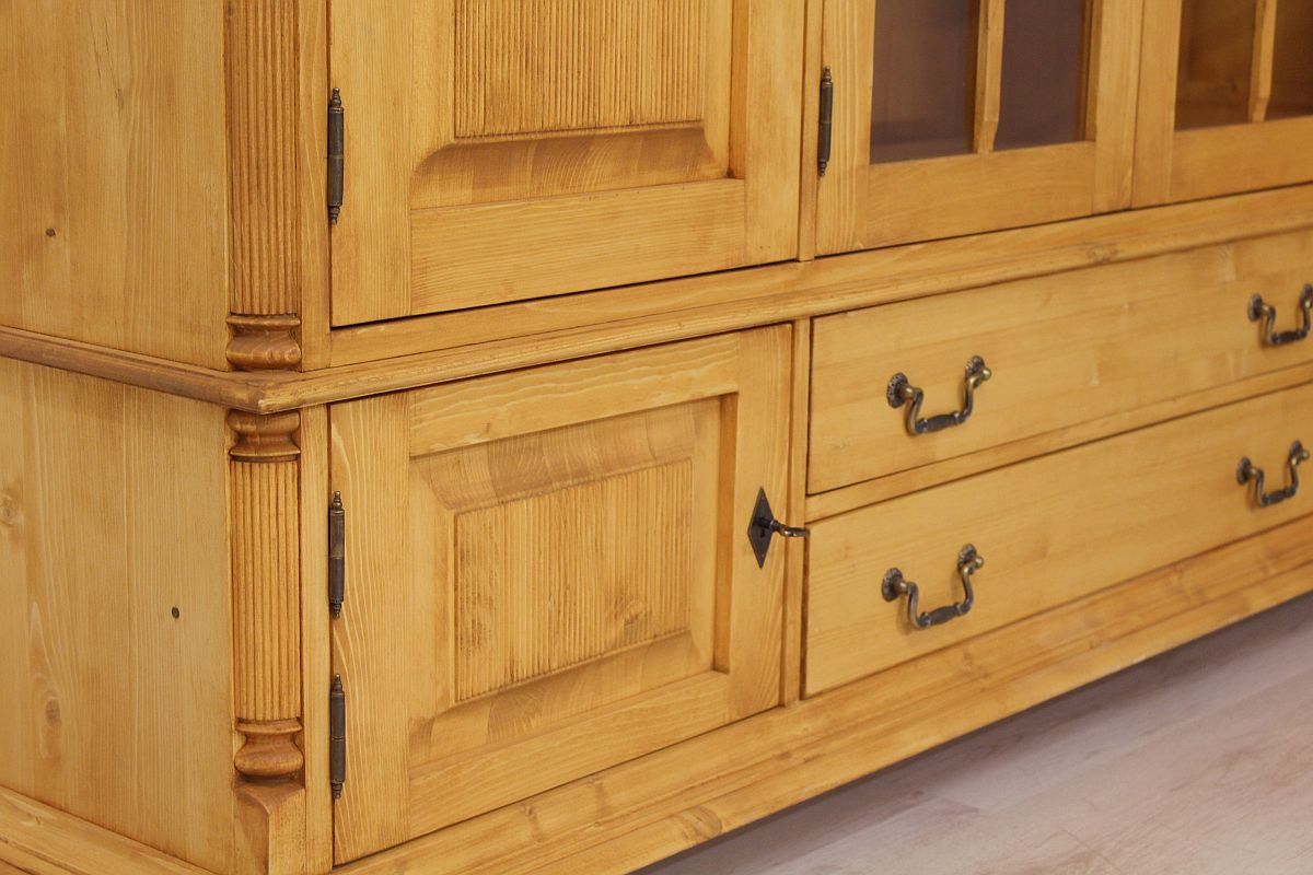 highboard fichte massiv wales 0950 036 471 47 ebay. Black Bedroom Furniture Sets. Home Design Ideas
