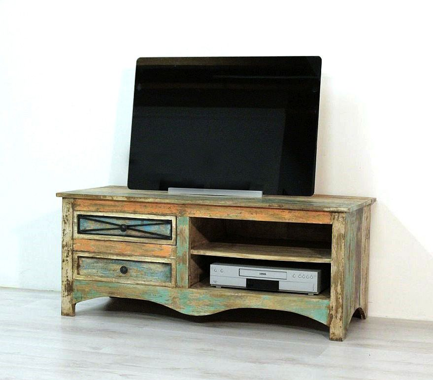 tv schrank lowboard anrichte massiv vintage gulliver ebay. Black Bedroom Furniture Sets. Home Design Ideas