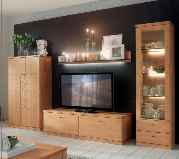 tvkombination erle massiv w stmann azteka wohnwand. Black Bedroom Furniture Sets. Home Design Ideas