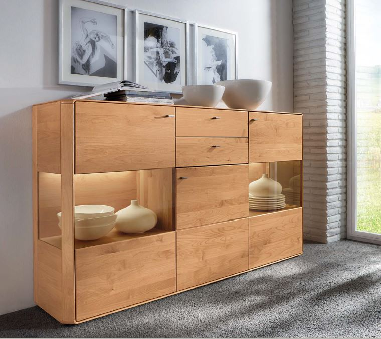 highboard erle massiv witnova 100 w stmann. Black Bedroom Furniture Sets. Home Design Ideas