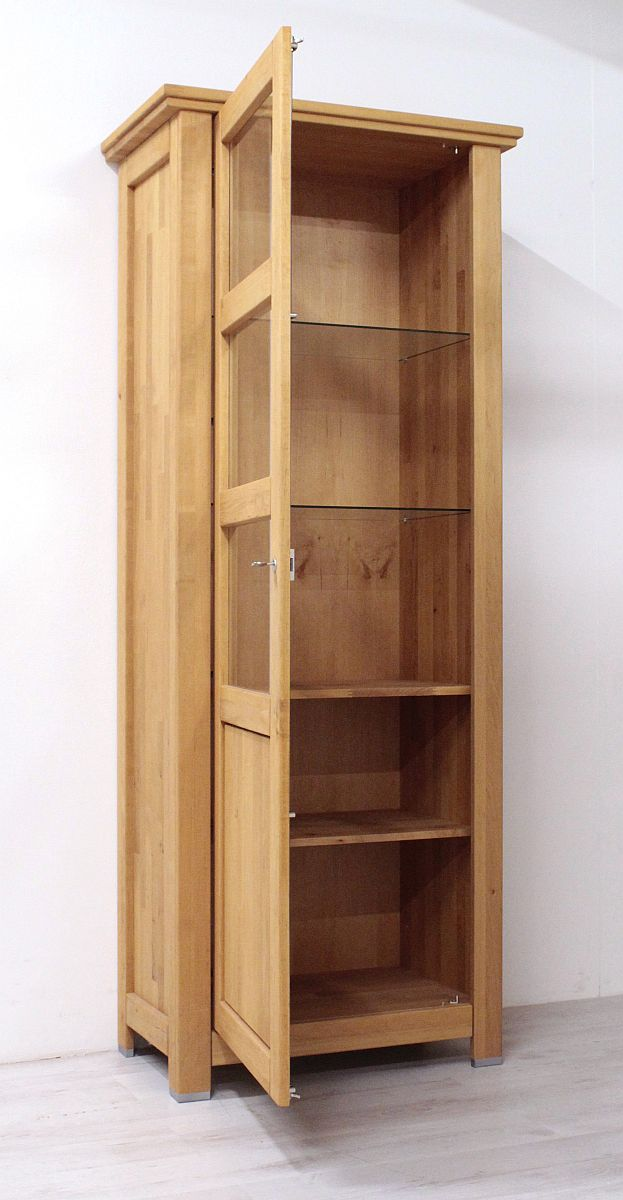 vitrine erle massiv red alder imperio wohnzimmerschrank schrank massivholz holz ebay. Black Bedroom Furniture Sets. Home Design Ideas