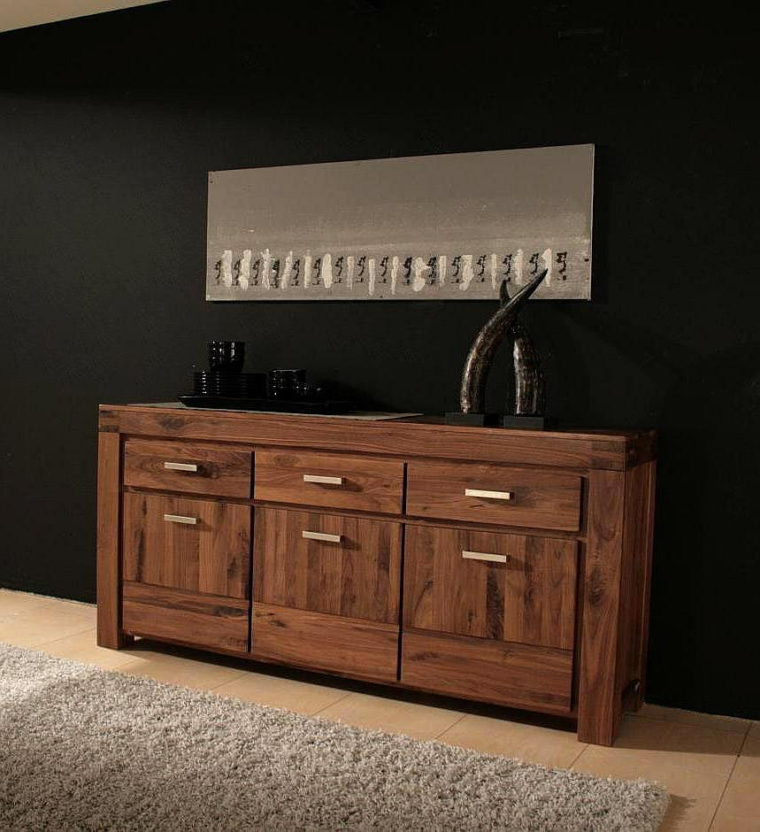 sahara sideboard nussbaum massiv 06041649 ebay. Black Bedroom Furniture Sets. Home Design Ideas