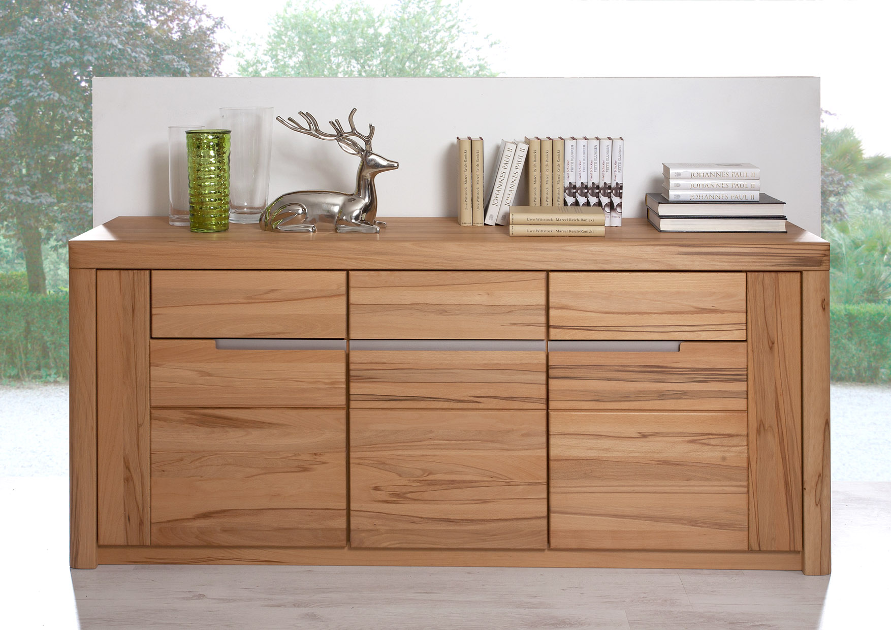 Sideboard anrichte kommode schrank kernbuche massiv solido for Sideboard 2 m