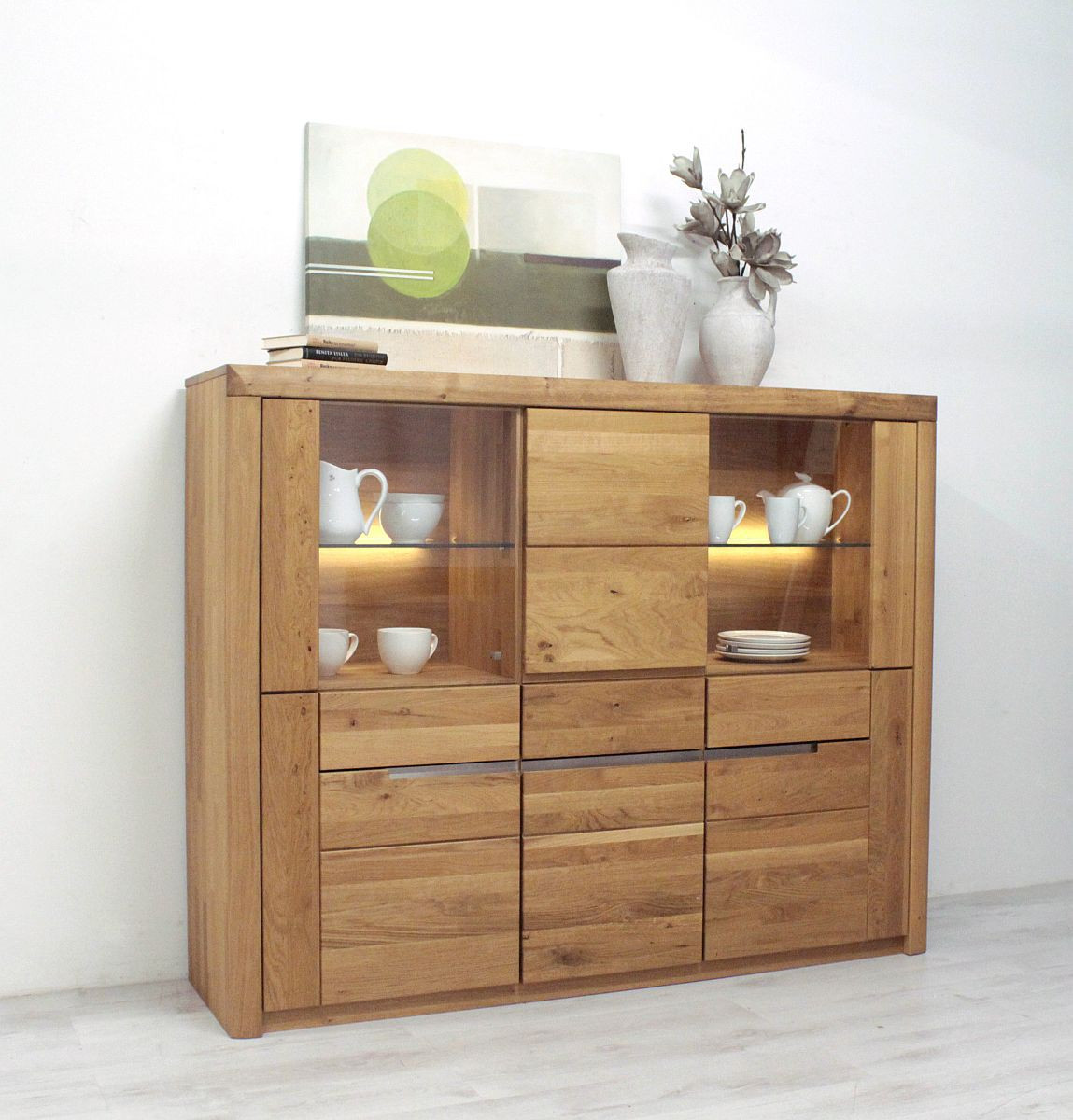 highboard wildeiche massiv solido made in germany. Black Bedroom Furniture Sets. Home Design Ideas
