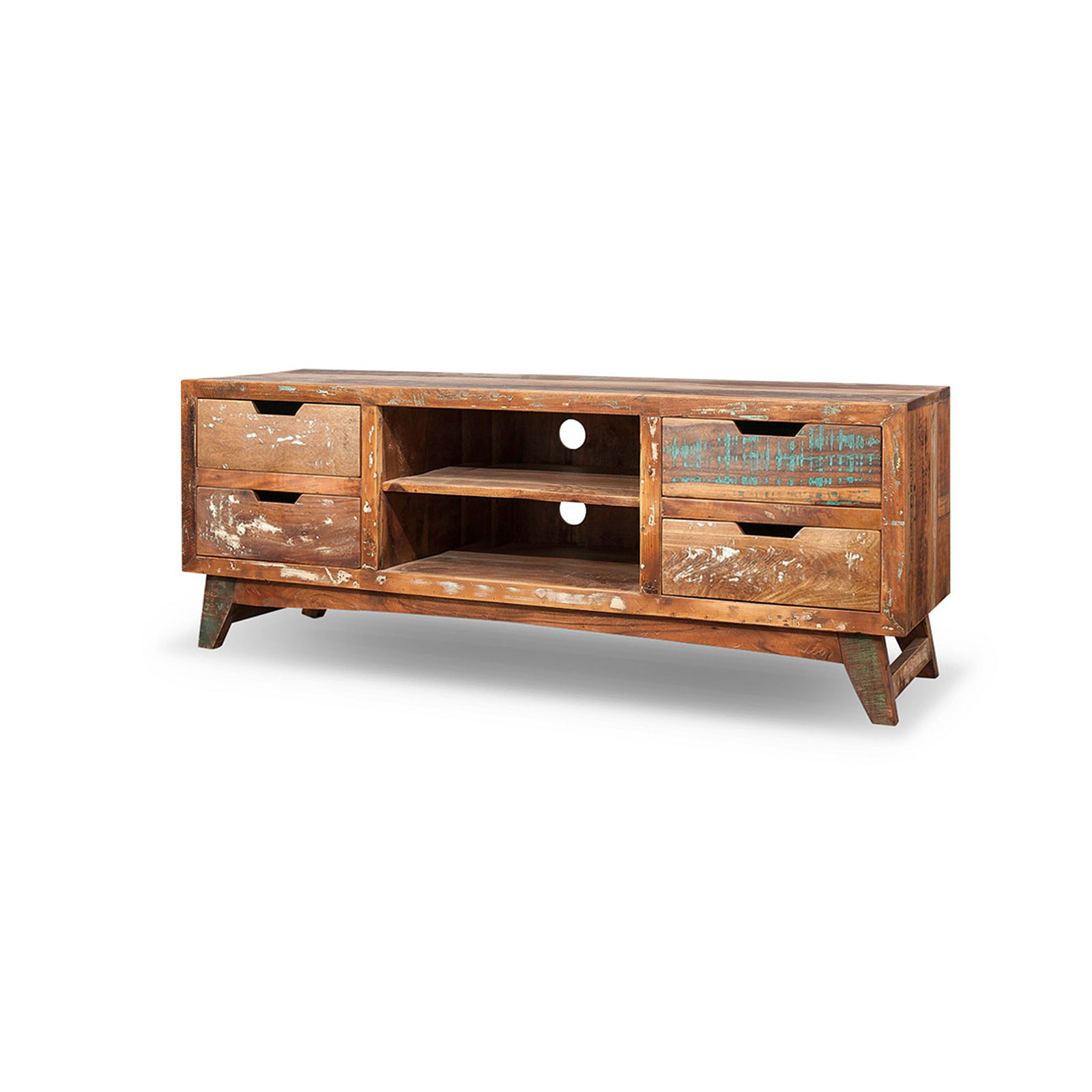 tv schrank aus recyceltem massivholz vintage shabby chic malm. Black Bedroom Furniture Sets. Home Design Ideas
