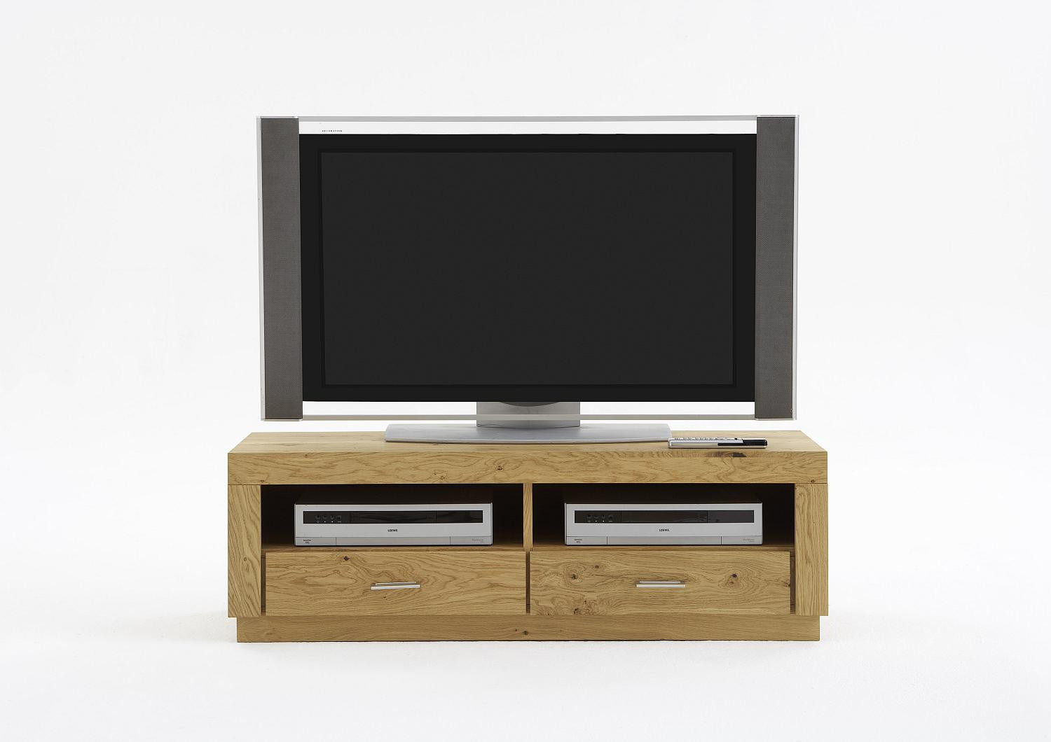 tv schrank eiche massiv natur ge lt signum top. Black Bedroom Furniture Sets. Home Design Ideas