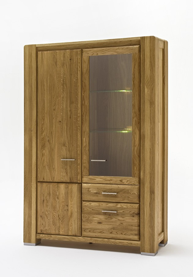 vitrine wildeiche massiv ge lt campus salvador. Black Bedroom Furniture Sets. Home Design Ideas