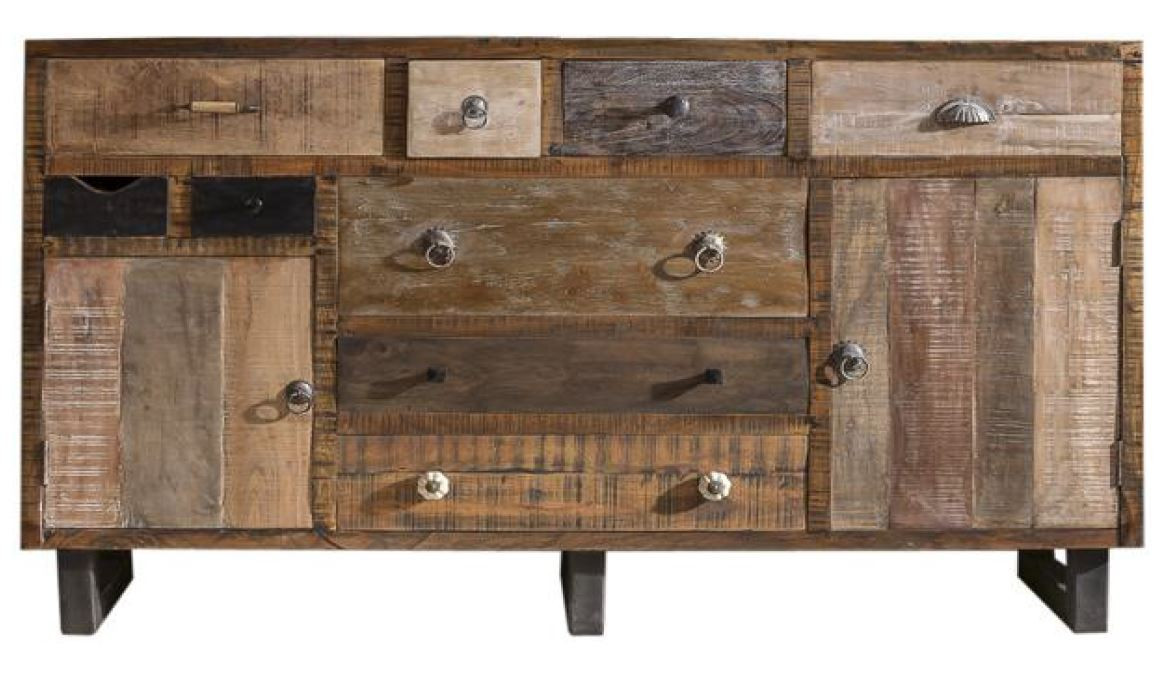 Sideboard Altholz Recycelt Vintage Look Ceylon 9053 32105