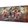 Metallbild Chopper 140 x 70 cm 3D-Optik Vintage / Industrialstyle-19841
