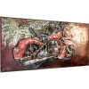 Metallbild Chopper 140 x 70 cm 3D-Optik Vintage / Industrialstyle-19844