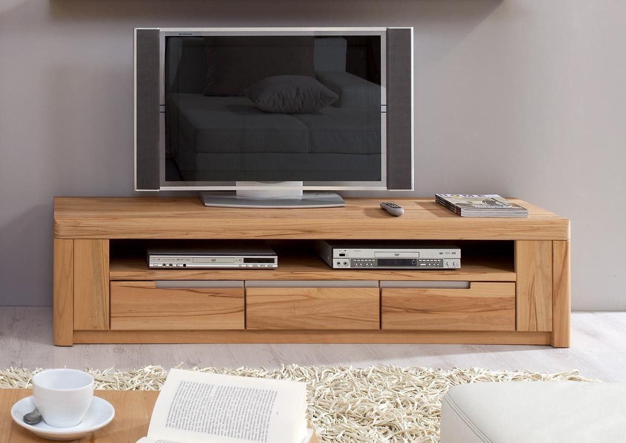 mediaschrank tv anrichte lowboard kernbuche massiv ge lt solido fernsehschrank. Black Bedroom Furniture Sets. Home Design Ideas